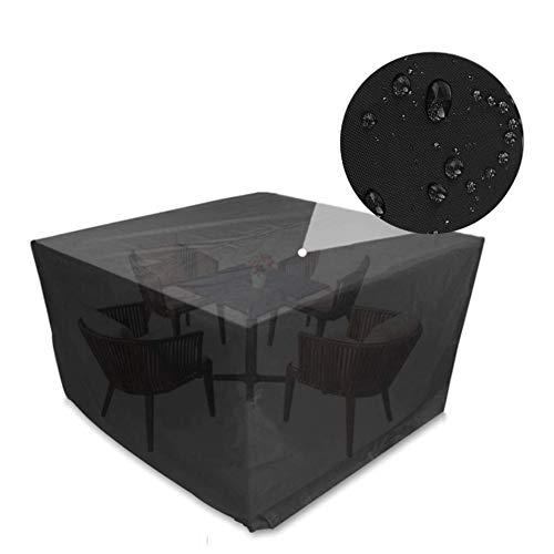 WXQIANG - Cubiertas de ratán para muebles al aire libre de tela Oxford resistente al agua, resistente al viento, anti-UV, para mesa de jardín, tamaño personalizable, negro, 40x40x40cm