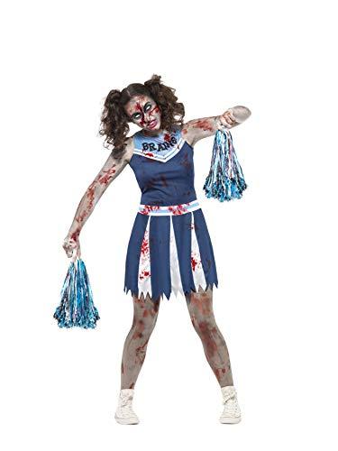 Smiffys 45614XS - Zombie Cheerleader Kostüm mit Dress und Pom Poms