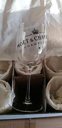 Set mit 6 Champagnergläsern aus Acryl – Moet Chandon – Neu