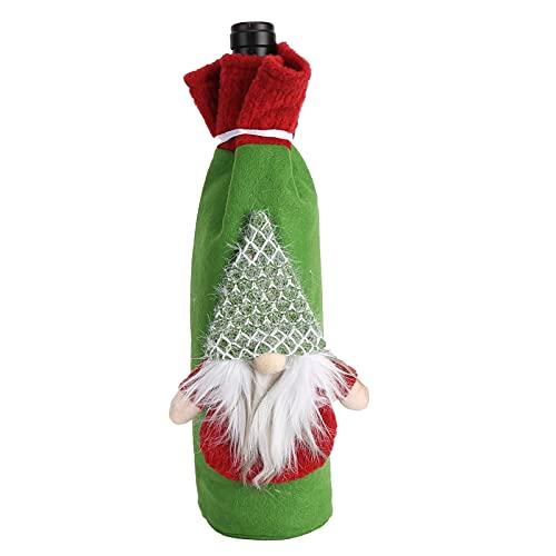 Cubierta De Botella De Vino, 11.8x5.1in Cubierta De Botella De Vino De Navidad Duradera Reutilizable Para Restaurantes Para El Hogar Para Decoración De Mesa(Barba)