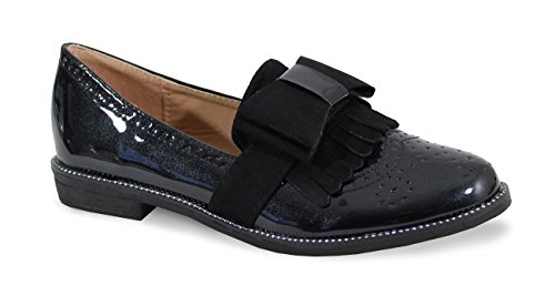 By Shoes - Mocassin Derbies Style Vernis - Femme -...