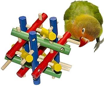 Wonninek 8 Paquet Oiseau Perroquet Suspendu Swing Mâcher Perches Anneau Tonalité Jouets Perroquet Bite Jouet pour Perroquet, Petit Oiseau, Perruche Perruche, Perroquet, Ara Cockatiel