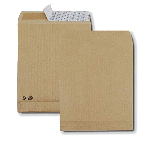 GPV - Confezione da 50 buste con chiusura adesiva, formato C4 229 x 324 mm, soffietto da 30 mm, 120 g