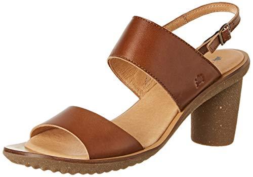 El Naturalista N5154 Vaquetilla Caramel/Trivia, Zapatos de tacón con Punta Abierta para Mujer
