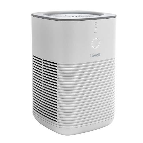 Levoit Luftreiniger Allergiker Raucherzimmer, Air Purifier mit dualen H13 HEPA Aktivkohlefilter entfernt 99,97{27f93ffeaff56015d32837aeed55cdd8cdf968b328adaf6eb7a257b882e6295e} von Staub Pollen Gerüche, bis zu 15 m², leiser Schlafmodus, 2 Gebläsestufen, ozonfrei