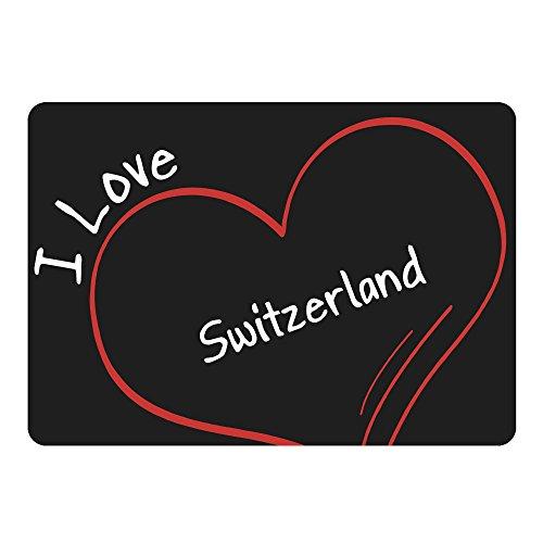 Mouse Mat Modern I Love Zwitserland Zwart