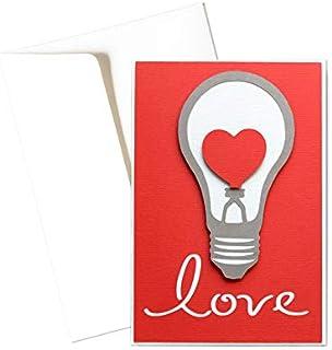 Love - cuore - biglietto d'auguri (formato 15 x 10,5 cm) - vuoto all'interno, ideale per il tuo messaggio personale - real...