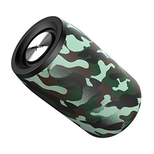 HIOD Bocina Bluetooth - Multifuncion Altavoz Inalámbrico 360 Inmersiva Rodear Sonar y Súper bajo Alcance de 10 m 6h Tiempo de Juego para Familia Al Aire Libre,Camouflage