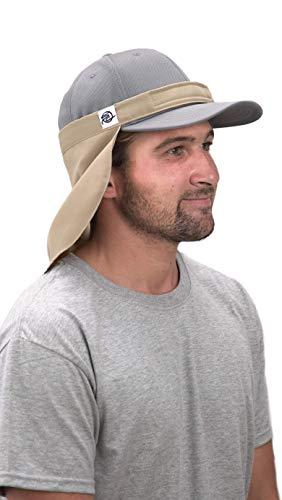 Shadecloth Headgear UVA + UVB, protección solar, cuello ajustable + máscara facial para exteriores