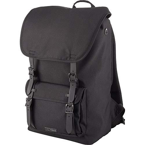 Lightpak Rucksack Rider, Laptoprucksack für 15 Zoll Notebook aus 600D Polyester, Backpack mit Polsterung Rucksack, 47 cm, 20 Liter, Schwarz