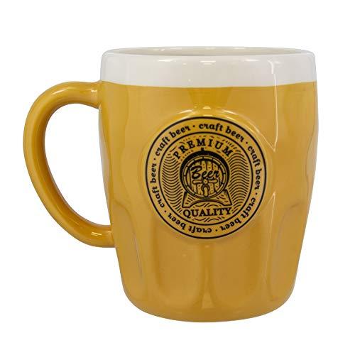 Paladone Pinte de bière en céramique, grand mug doré