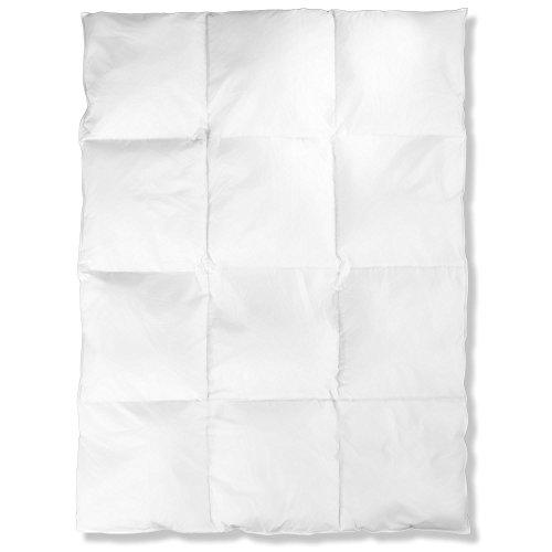 aqua-textil Kassettenbettdecke Feder-Daunen-Füllung Otto Keller Bettdecke mit Quadratsteppung 135 x 200 cm 0010892