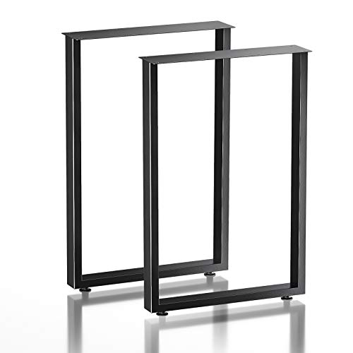 """Metal Table Legs 28'' Height 17.7"""" Wide Square - Heavy Duty Furniture Leg for Dining Coffee Tables and Desk, Black"""