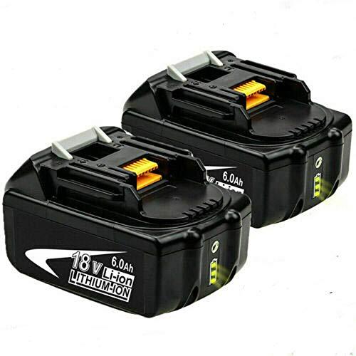 2X BL1850B 18V 6.0Ah Batterie de remplacement pour Makita BL1850 BL1860B BL1860 BL1840 BL1845 BL1835 BL1830 BL1815 LXT-400 avec indicateur