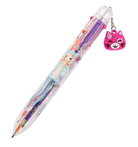 Depesche 10560 Kugelschreiber mit 6 Minen in verschiedenen Farben, TOPModel, ca. 14,5 cm, sortiert
