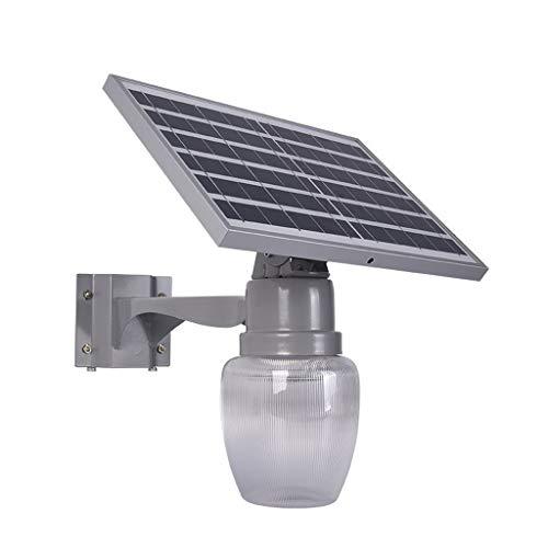 WRHN - Luz solar para jardín o exteriores, impermeable, LED, 6 W/9 W, control de iluminación para jardín, paisaje y mando a distancia, dos opcionales., plástico abs, A, 6 W