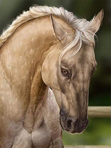 Cuadro de diamantes de imitación de caballo conjunto completo bordado Animal punto de cruz mosaico Kit de bordado pintura de diamantes A7 45x60cm