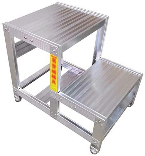 Taburete Escalera del taburete, antideslizante La ampliación de la plataforma de trabajo en espera de fábrica Plataforma de Trabajo de Ingeniería de escalera al aire libre Banco ( Size : 53*62*60cm )