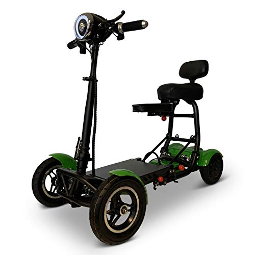 Fold and Travel Mobility Scooters for Adults 4 Wheel Long Range Mobility Scooter Electric Wheelchair Power (Green) Mobility Scooters