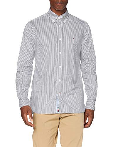 Tommy Hilfiger Flex Refined Oxford Stripe Shirt Camicia, Desert Sky/White, XS Uomo