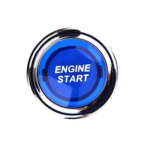 YYAN Interruptor de motor de 12 V azul botón de control del motor interruptor de arranque interruptor del motor piezas iluminadas arrancador universal