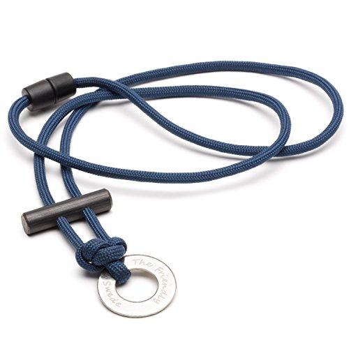 The Friendly Swede Paracord Halskette mit Feuerstarter (Blau)