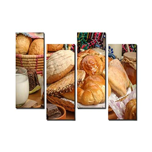 Wocatton Mexican Sweet Bread Bread Bakery Stock Pictures Royalty Free Photos Wall Art Background Decor Pictures Print On Canvas Art Stretched and Framed Perfect Home Decoration