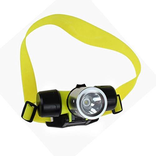 yunyu Lampe Frontale T6Head Light étanche plongée sous-Marine Natation pêche phares sous l'eau, Lampe Frontale pour Le Camping