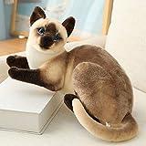 20-45cm simpatici gatti di simulazione giocattoli di peluche animali di peluche gatto siamese bambola per bambini bambini giocattolo di vita reale decorazioni per la casa regalo di compleanno 3 45cm