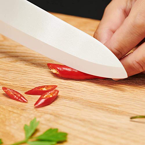 Silberthal Keramikmesser Set weiß – 4-teiliges Messerset - 5
