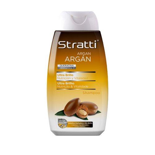 Stratti Argán - Champú Ultra Brillo con Keratina, sin Sal - 400 ml