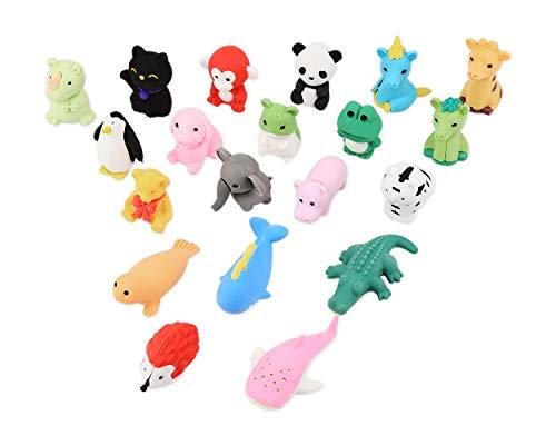 SCSpecial Juego de 20 borrador de animales Desmontables de Borrar de Lápiz gomas de borrar para niños, escuelas, diseño al...