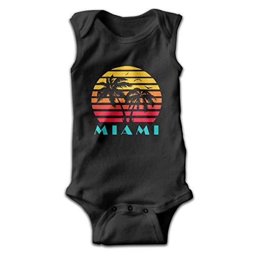 huatongxin Miami 80s Sunset Baby Sleeveless Playsuit Outfit Clothes Infantil Kawaii Mono