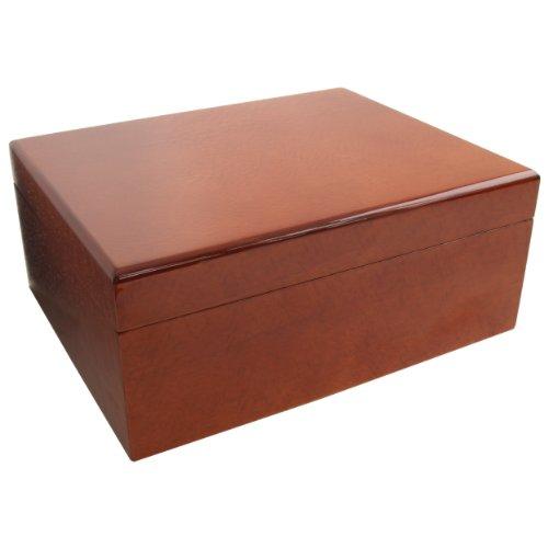 Savoy by Ashton Medium Humidor in Beetlewood, 50 Cigar Capacity