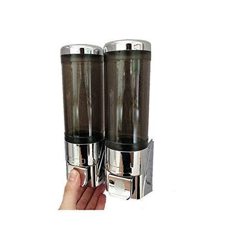 Fenshan223 Handpresse Seifenspender Shampoo Duschgel Spender Neuer Neuer HändeDesInfektionsMittelbehälter Einzelflasche 300ml Fassungsvermögen (Size : 932 Plating Grey Dual Grid)
