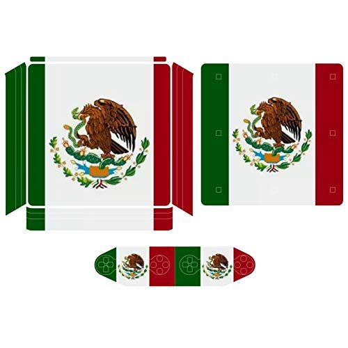 Mexico Flag The Eagle And Snake Compatible with PS4 Slim controller and console skin sticker protective cover wireless/wired gamepad controller