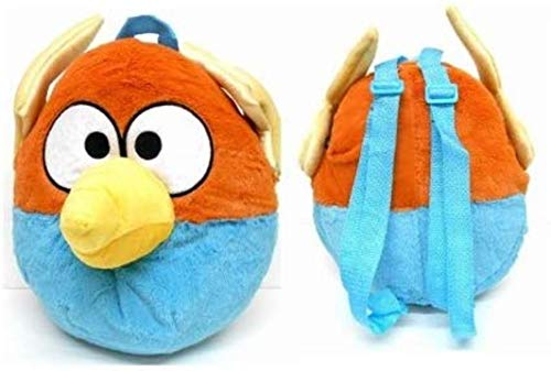 Angry Bird Space Blue Orange Bird Plush Doll Backpack (kids to adult)