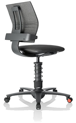 3Dee Active-Office-Chair, Stoffmuster:Grey-mélange