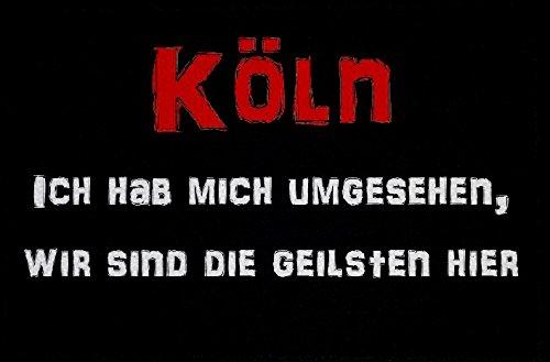 U24 Aufnäher Köln die Geilsten Aufbügler Patch 9 x 6 cm