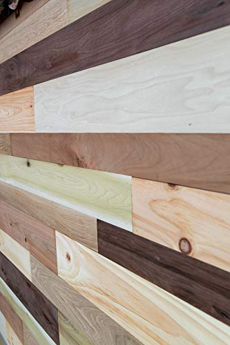 Vintage Harvest Premium Artisan Wood Wall Planks – Assortment of Wood Including Walnut, Cherry, White Oak, Mineral Poplar and Ash, Easy to Install (10.2 Square Feet)