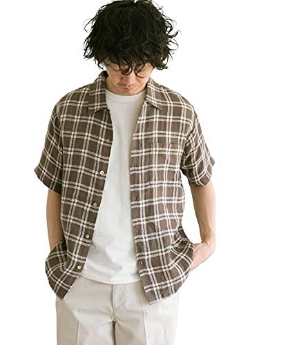 [アーバンリサーチ ドアーズ] ワイシャツ リネンショートスリーブボックスシャツ メンズ DR05-13Y005 Check 38