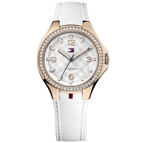 Tommy Hilfiger 1781374 - Reloj de Cuarzo para Mujer, Correa de Caucho Color Blanco