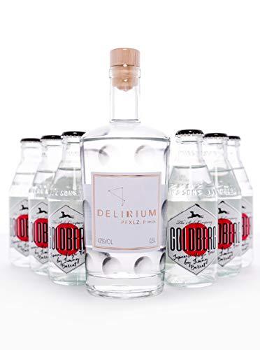 Gin Set - DELIRIUM PFXLZ. II ® Dry Gin (1x500ml) & Goldberg Japanese Yuzu Tonic (6x200ml) - Perfektes Geschenk - Perfekt für Gin Liebhaber