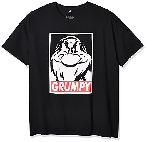 Disney Men's Snow White and Seven Dwarfs Grumpy Graphic T-Shirt, Black, XL