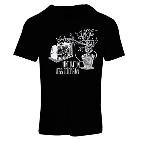 lepni.me N4325F Camiseta Mujer Mas Naturaleza (Medium Negro Multicolor)
