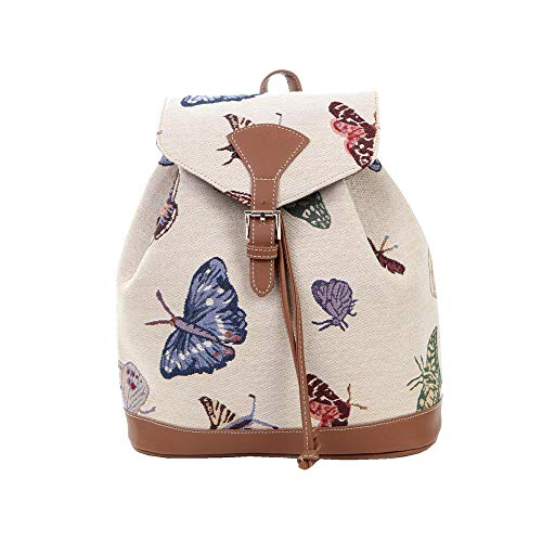 Signare Tapestry Fashion Backpack Rucksack for Women with Floral and Garden Design