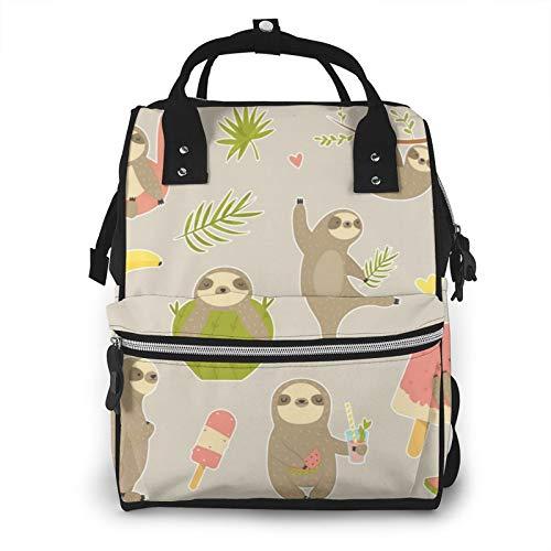 Bolsa de pañales para el cuidado del bebé con diseño de perezoso