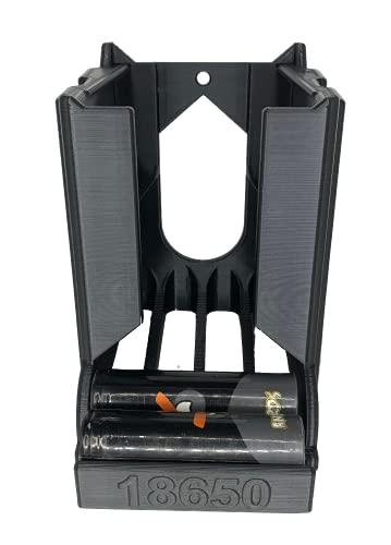 3D-Bude-Ruhr 18650 Batterie Akkurutsche, Akkuspender, Akkuhalter, Batteriehalter,Batteriespender für 18 Akkus LG,Samsung,Sony Dampfen,Vapeing (Schwarz)