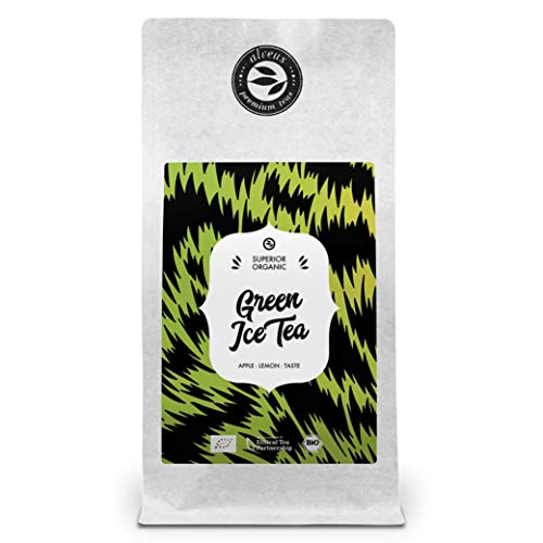 Eistee Lose Bio Ingwer-Apfel Geschmack - Grüner Tee mit Zitronengras - 100 Gramm Tüte von alveus Green Ice Tea