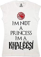 ARTIST Camiseta Sin Manga I'm Not a Princess I'm a Khaleesi Mujer Juego De Tronos